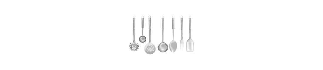 forchette, cucchiaio, coltello, mestolo, sbattitore